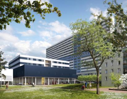 Extension de l'hôpital Henri Mondor, Créteil